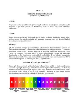 Deney 5 - pH Skalası ve pH Olcumleri