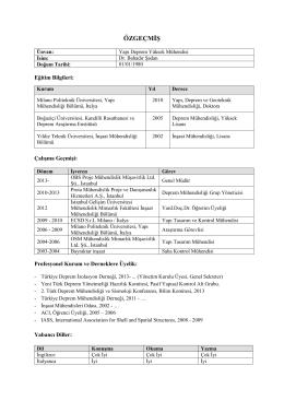 Özgeçmiş-CV - OBS Proje Mühendislik Müşavirlik Ltd. Şti.