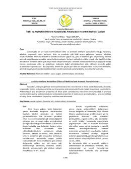 Tıbbi ve Aromatik Bitkilerin Kanatlılarda Antioksidan ve