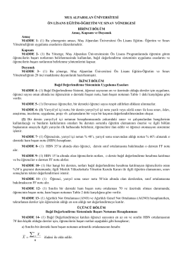Muş Alparslan Üniversitesi Ön Lisans Eğitim