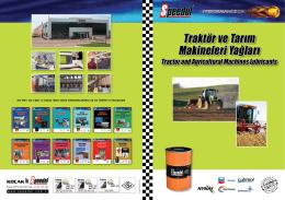 Traktör ve Tarım Makineleri Yağları Katalog İndir (PDF)