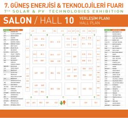 SOLAREX Istanbul 2014 HALL PLANLARI