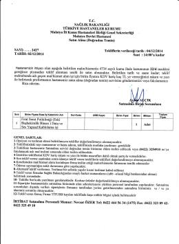 2427 çık - Malatya Devlet Hastanesi