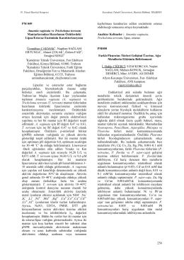 Farklı Pleurotus Türleri Gelişimi Üzerine, AğırMetallerin Etkisinin