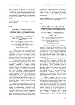 Periferal Kan Lenfositlerinde Seneciotrapezuntinus Boiss. Türünün