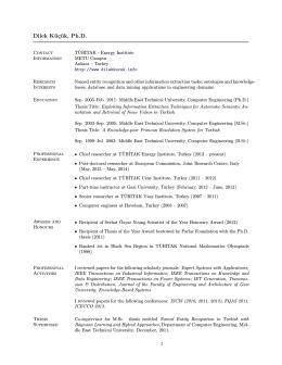 Dilek Küçük, Ph.D. - METU Computer Engineering