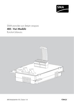Kurulum kılavuzu - 485 - Veri Modülü