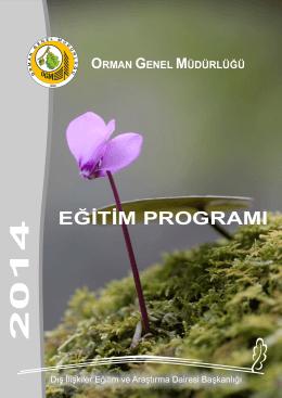 eğitim programı 2014 - Orman Genel Müdürlüğü