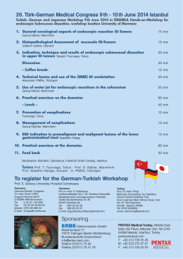 26. Türk-German Medical Congress 9 th