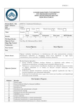 KMÜ512 Endüstriyel Kristalizasyon