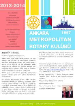 bulten 13 - Ankara Metropolitan Rotary Kulübü