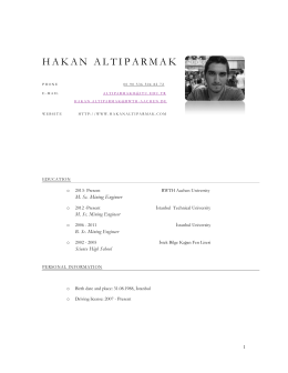 Download my Vcard - Hakan ALTIPARMAK