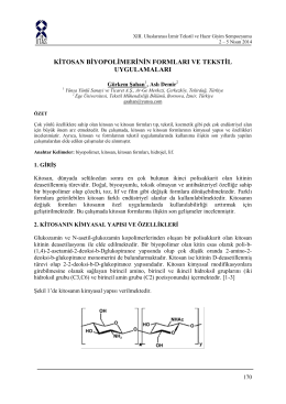 kitosan biyopolimerinin formları ve tekstil uygulamaları