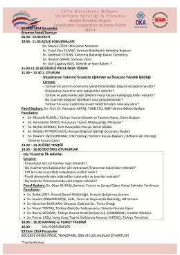 Uluslararası Yatırım/Ticarette Eğilimler ve İhracata Yönelik İşbirliği