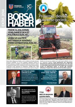 Borsa Haber Ekim 2014 - Trabzon Ticaret Borsası