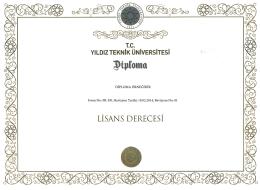 FR-391-Yıldız Teknik Üniversitesi Diploması
