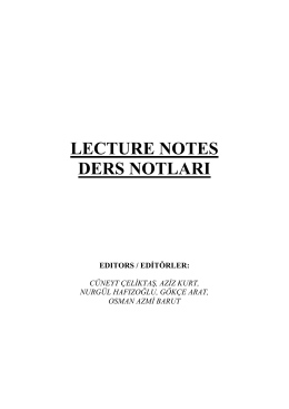 lecture notes ders notları - Turkish Accelerator and Radiation