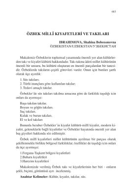 IBRAHIMOVA, Shahina Boboxonovna-ÖZBEK MİLLÎ