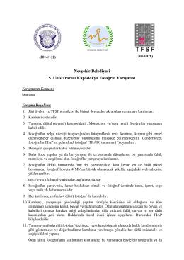 Nevşehir Belediyesi 5. Uluslararası Kapadokya Fotoğraf Yarışması