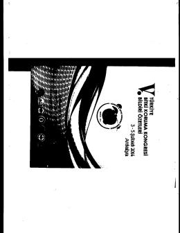 V• TORKIYE BITKi KORUMA KONGRESI 3 - 5 al bat 2014