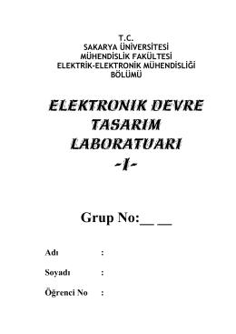 Elektronik Devre Tasarım Laboratuarı