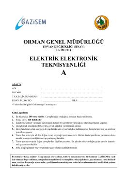 Elektrik Elektronik Teknisyenliği A