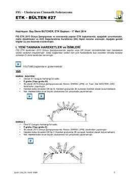 Bülten 27 Türkçe - Türkiye Cimnastik Federasyonu