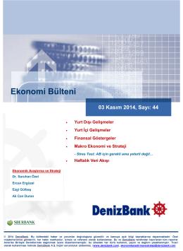 03 Kasım 2014 - DenizBank Özel Bankacılık