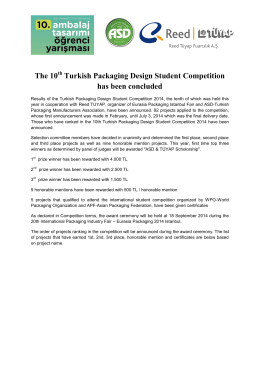 The 10 Turkish Packaging Design Student Competition has been