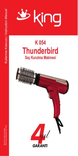 K 054 Thunderbird Kullanma con