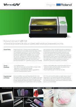 Roland VersaUV LEF-12 - OTS Dijital Baskı Çözümleri
