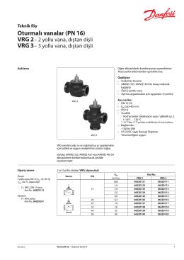 VRG 3 - Danfoss Isıtma