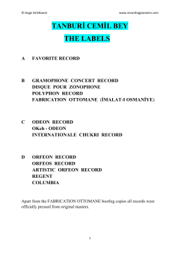Record labels - Recording Pioneers