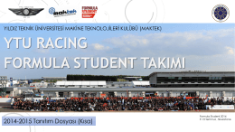 PowerPoint Sunusu - YTU Racing Formula Student Projesi