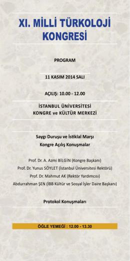 xı. milli türkoloji kongresi