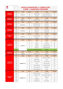 antalya basketbol il temsilciliği 8 ekim