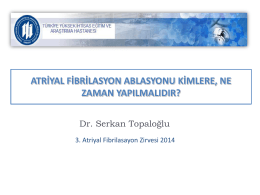 Serhan Topaloğlu - 4. atriyal fibrilasyon zirvesi 2015