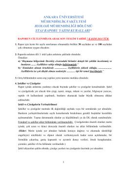 Rapor Yazım Kuralları () - Jeoloji Mühendisliği