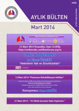 12 Mart 2014 - Türk Toraks Derneği