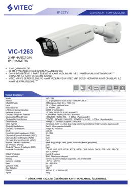 VIC-1263 - Bilgi Elektronik