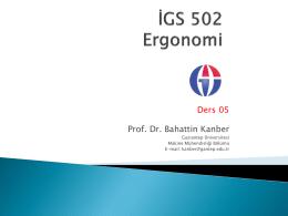 Ders 05 Prof. Dr. Bahattin Kanber