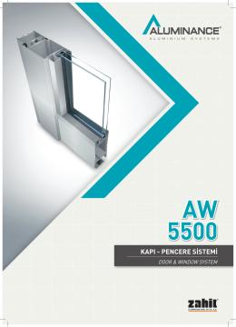 AW 5500 - Akmanlar Alüminyum Profil Market