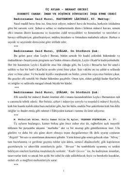 ÜÇ AYLAR - BERAAT GECESİ SOHBETİ