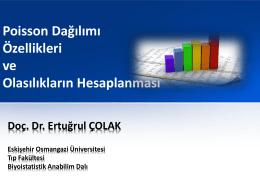 Poisson Dağılımı - anadolu üniversitesi eczacılık fakültesi