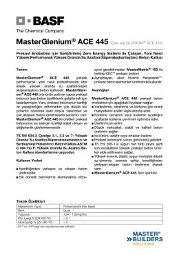 MasterGlenium® ACE 445 (Eski adı GLENIUM® ACE 445