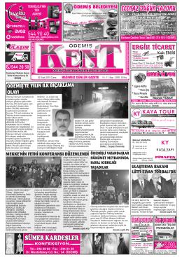 02-01-2015 Tarihli Kent Gazetesi