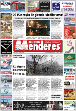 02 Ocak Tarihli Küçükmenderes Gazetesi