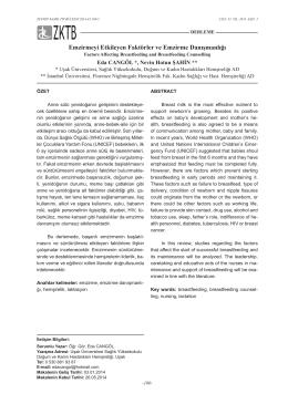 Emzirmeyi Etkileyen Faktörler ve Emzi̇rme Danışmanlığı (Factors