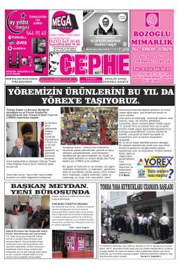 14.10.2014 Tarihli Cephe Gazetesi