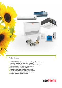 Fan Coil Cihazları - Solar